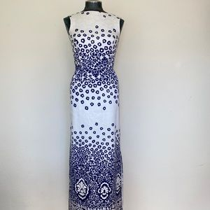 RARE 50's Vintage S. Eisenberg Floral Maxi Dress